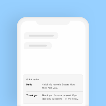 mssg.me Inbox message templates